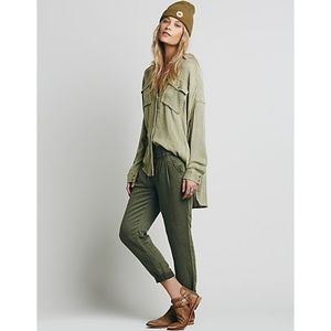 Free People Slouchy Washed Trouser Pant